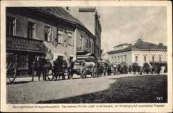 Postcard Vilnius Wilna Litauen, Deutsches Militär, Russisches Theater