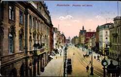 Postcard Mannheim in Baden Württemberg, Planken mit Börse