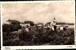Postcard Dachau Oberbayern, Totalansicht der Stadt, Kirchturm