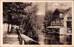 Postcard Cottbus Brandenburg, An der Mühleninsel, Flusspartie