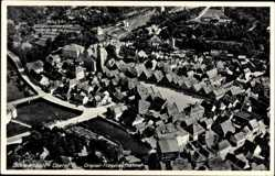 Postcard Schwandorf Oberpfalz, Fliegeraufnahme, Stadtpanorama, Straßen, Häuser
