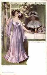 Künstler Ak Volkhart, Max, Novemberfest 1899, Junge Frauen