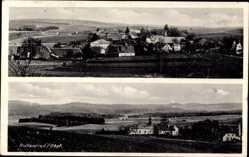 Postcard Pullenried Oberviechtach, Panoramablick über die Ortschaft