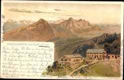 Künstler Ak Compton, Edward Harrison, Kochel am See, Herzogstand Häuser