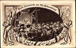 Studentika Künstler Ak Fürst Otto von Bismarck, 80. Geburtstag