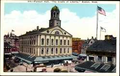 Postcard Boston Massachusetts USA, Faneuil Hall, The Cradle of Liberty