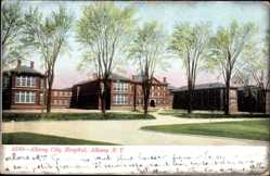 Postcard Albany New York USA, Albany City Hospital, Krankenhaus