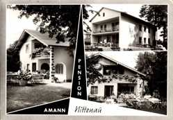 Postcard Nittenau, Pension Amann, Haus Ursula, Gartenansicht, Autos, Balkon