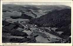 Postcard Bilstein Wiehl, Sauerland, Fliegeraufnahme vom Tal