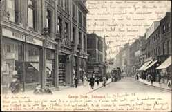 Postcard Richmond London TW9, George Street, Wright Bros, Geschäfte, Passanten