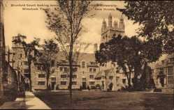 Postcard New Haven Connecticut USA, Branford Court looking toward Wrexham Tower, Yale