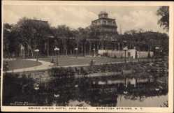 Postcard Saratoga Springs New York USA, Grand Union Hotel and Park