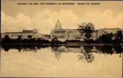 Postcard Rochester New York USA, University, College for Men, Beside the Genesee