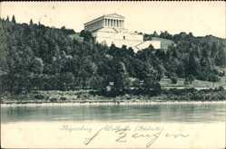 Postcard Regensburg an der Donau Oberpfalz, Ansicht der Walhalla, Südseite