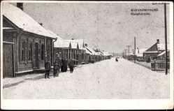 Postcard Baranowitschi Weißrussland, Hauptstraße, Ort im Winter
