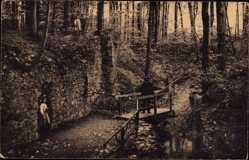 Ansichtskarte / Postkarte Nossen Landkreis Meißen, Kloster Alt Zella, Wandelgang am Klosterbach