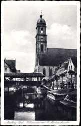 Postcard Amberg in der Oberpfalz Bayern, Vilspartie mit St. Martinskirche, Brücke