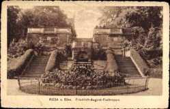 Ansichtskarte / Postkarte Riesa an der Elbe Sachsen, Blick auf die Friedrich August Freitreppe