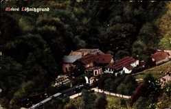Ansichtskarte / Postkarte Kötzschenbroda Radebeul, Blick auf die Meierei Lößnitzgrund, Zug