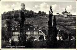 Ansichtskarte / Postkarte Oberlößnitz Radebeul, Hoflößnitz, Spitzhaus, Fachwerkhaus, Turm