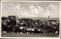Postcard Vohenstrauß im Oberpfälzer Wald, Blick vom Feld auf den Ort