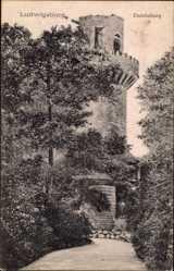 Postcard Ludwigsburg, Blick auf den Turm der Emichsburg