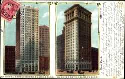 Postcard New York City USA, National Bank of North American Building,Hanover Nat. Bank