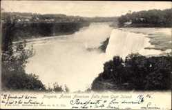 Postcard Niagara New York USA, Across American Falls from Goat Island