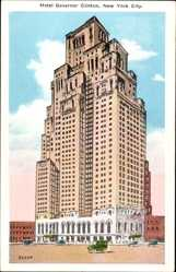 Postcard New York City USA, Hotel Governor Clinton, Hochhaus