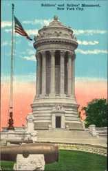 Postcard New York City USA, Soldier's and Sailor's Monument, Denkmal