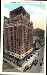 Postcard New York City USA, Liggett's Building and 42nd Street