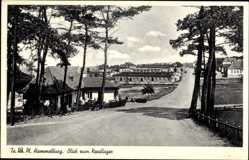 Postcard Hammelburg, Truppenübungsplatz, Blick zum Nordlager