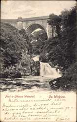 Postcard County Wicklow Irland, Poul a Phouca Waterfall, Bridge