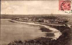 Postcard Falmouth South West, The Sea Front, Küstenlinie, Ort