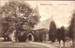 Postcard Shanklin Isle of Wight South East, The Old Church, Alte Kirche