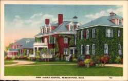 Postcard Newburyport Massachusetts USA, Anna Jaques Hospital