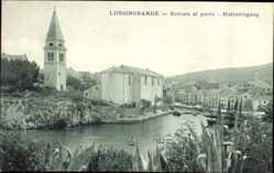 Postcard Veli Lošinj Lussingrande Kroatien, Entrata al Porto, Hafeneingang