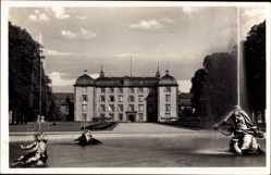 Postcard Schwetzingen im Rhein Neckar Kreis, Blick zum Schloß, Schloßgarten