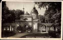 Postcard Schwetzingen im Rhein Neckar Kreis, Schlossgarten, Moschee, Tor