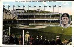 Postcard New York City USA, Polo Grounds, National League Baseball Park, Giants