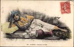 Ak Algerien, Odalisque couchee, liegende Frau, Collection Idéale P.S. 241