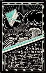 Studentika Ak Fulpmes Stubaital Tirol, Unterschriften, Sonne, Wolken, 1931