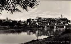 Postcard Nabburg, Gesamtansicht mit Blick über den Fluss, 1000 jährige Stadt 1930