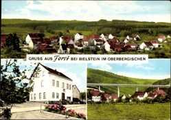 Postcard Forst Wiehl im Oberbergischen Kreis, Totalansicht mit Hausansicht