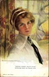 Künstler Ak Boileau, Philip, Absence Cannot Hearts Divide, Junge Frau