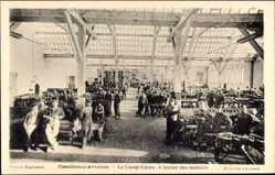 Postcard Casablanca Marokko, Aviation, Camp Cazes, Atelier des moteurs