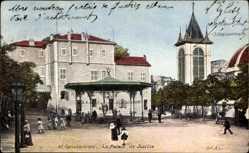 Postcard Constantine Algerien, Le Palais de Justice, Pavillon, Straßenpartie