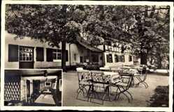 Ansichtskarte / Postkarte Batzdorf Klipphausen, Blick auf die Rehbockschänke, Innenansicht