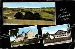 Postcard Leuscheid Windeck Siegkreis, Ortspartie, Westerwaldhaus, Waldesruh