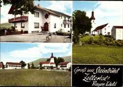 Postcard Steinbühl Zellertal Bad Kötzting Oberpfalz, Gasthof Pension Müller Bräu